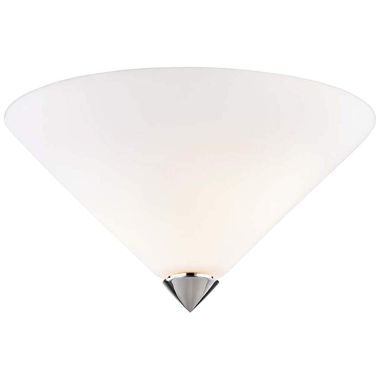 "Mitzi Ulla 13"" Wide Polished Nickel Glass Ceiling"