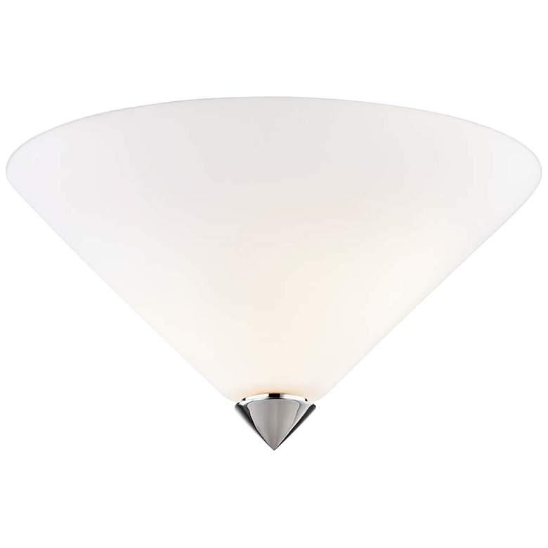 "Mitzi Ulla 13"" Wide Polished Nickel Glass Ceiling Light"