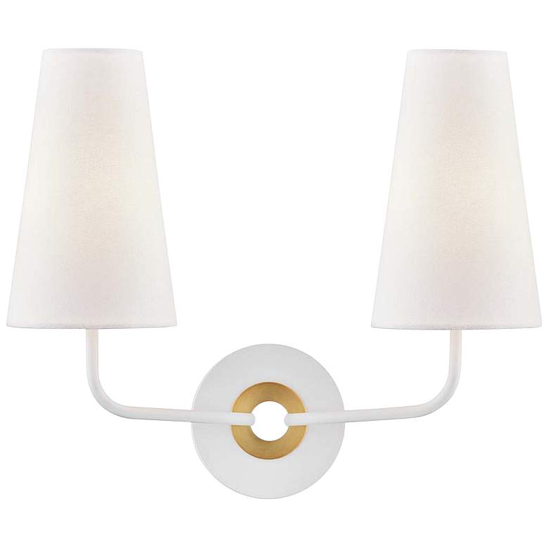 "Mitzi Merri 13 1/2"" High 2-Light White Wall Sconce"