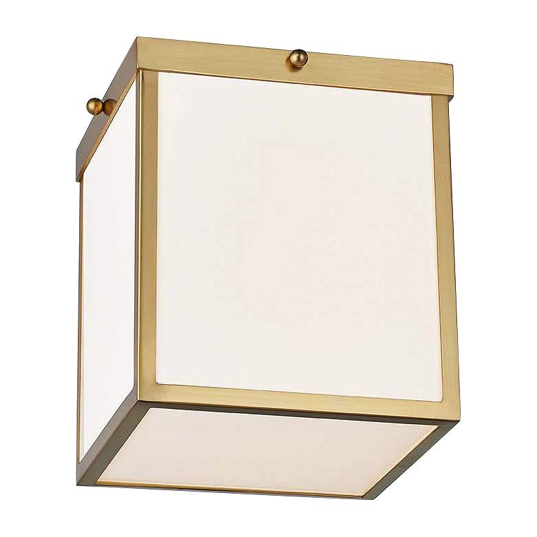 "Mitzi Monica 8 1/4"" Wide Aged Brass LED Ceiling Light"