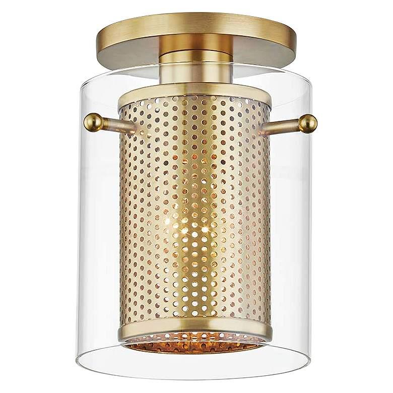 "Mitzi Elanor 5 1/2"" Wide Aged Brass Ceiling Light"