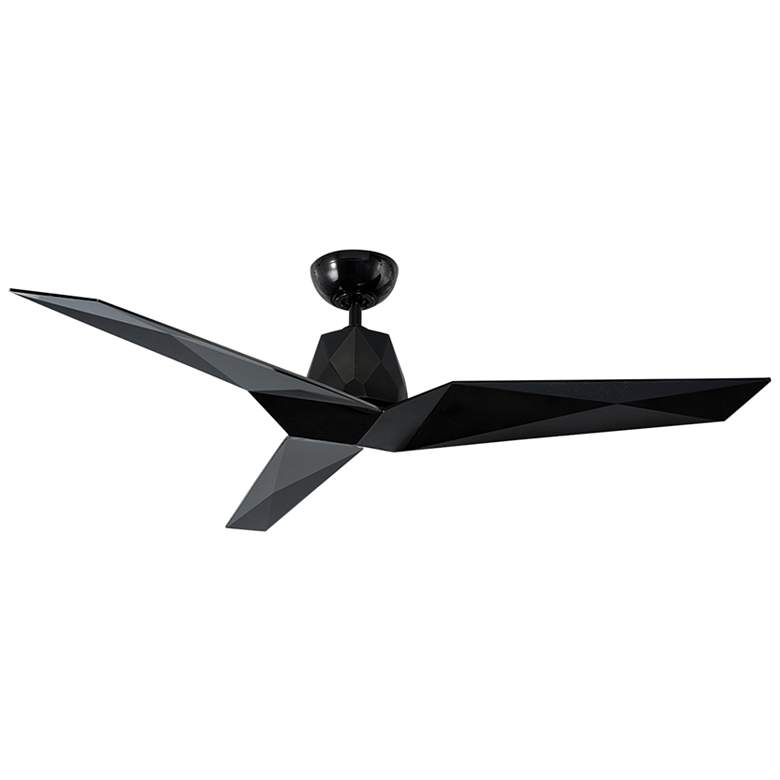 "60"" Modern Forms Vortex Gloss Black Outdoor Ceiling Fan"