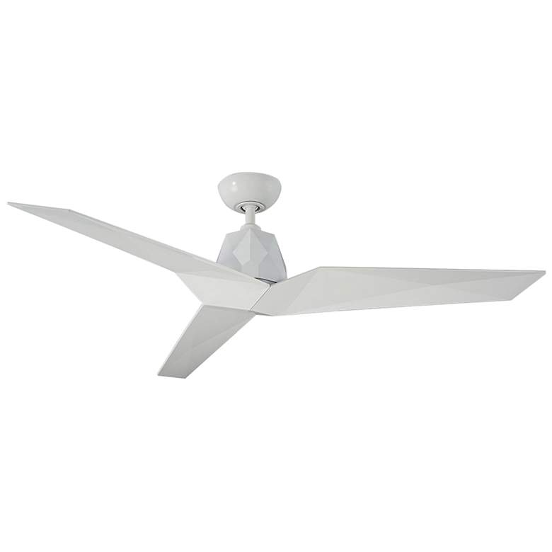 "60"" Modern Forms Vortex Gloss White Wet Ceiling Fan"