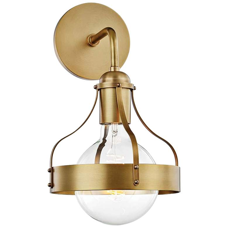 """Mitzi Violet 13 1/2"""" High Aged Brass Wall Sconce"""
