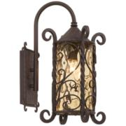 "Casa Seville 18 1/2"" High Iron Scroll Outdoor Wall Light"