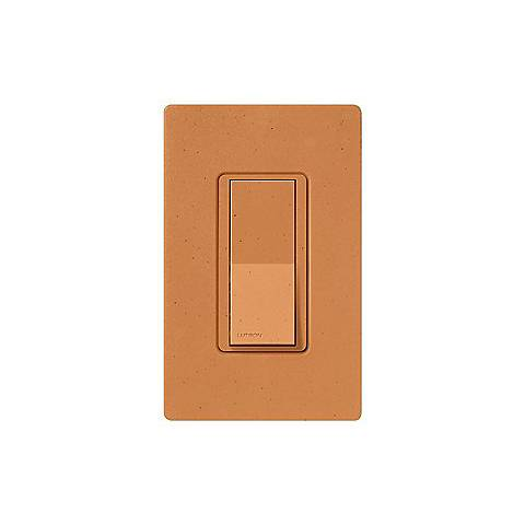 Lutron Diva Terracotta Finish SC Single Pole Wall Switch