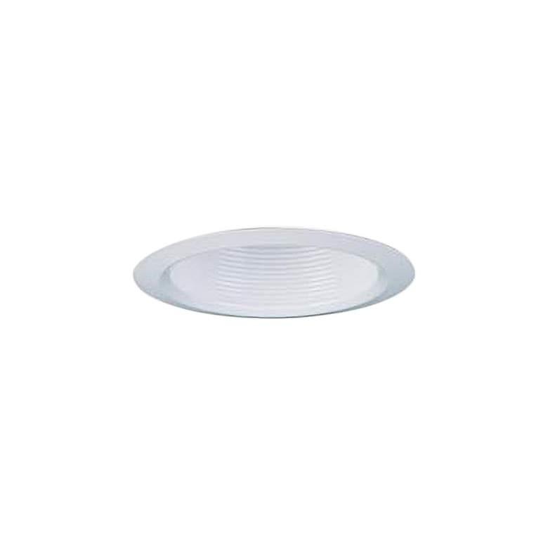 "Lithonia 4"" Round White Shallow Baffle Recessed Light Trim"
