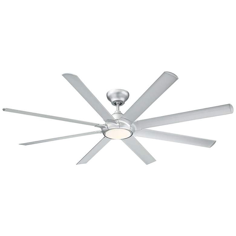 "80"" Modern Forms Hydra Titanium Silver LED Damp Ceiling Fan"