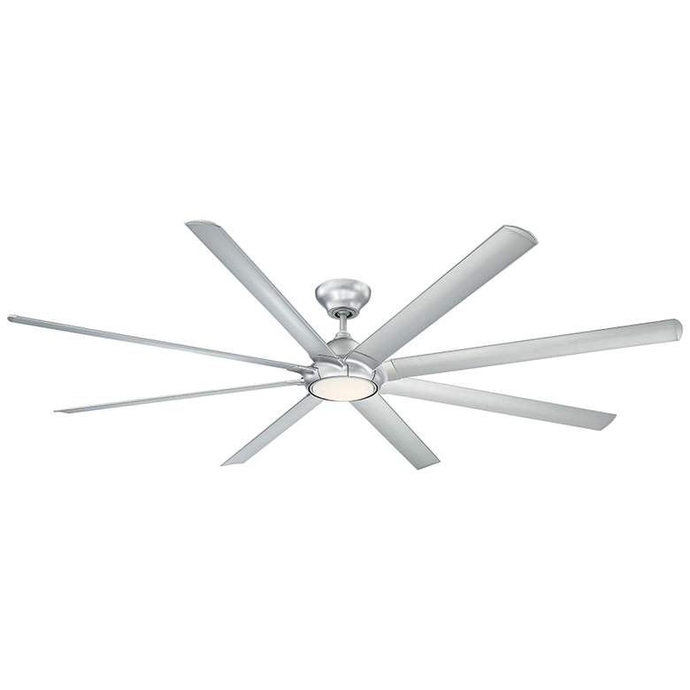 "96"" Modern Forms Hydra Silver LED Wet Ceiling Fan"