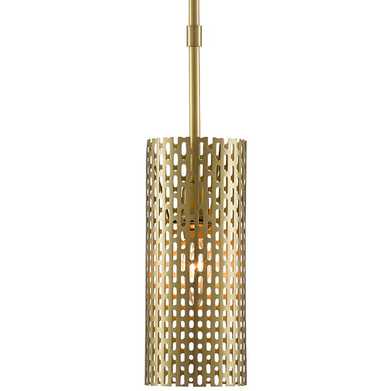 "Dallow 5 1/2"" Wide Brushed Brass Mini Pendant Light"