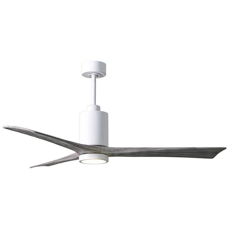 "60"" Matthews Patricia-3 Gloss White LED Damp Ceiling Fan"