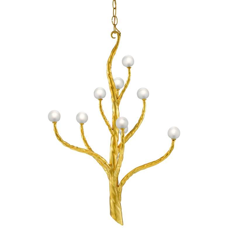 """Loucinda 21 3/4""""W Gold Leaf Tree-Shaped 9-Light Chandelier"""