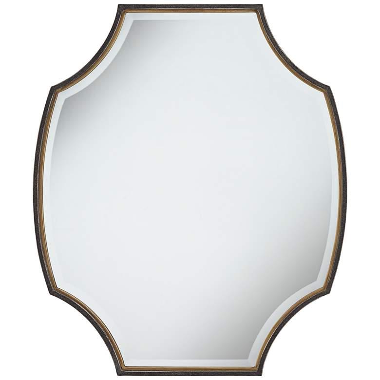 "Uttermost Bri 30 3/4"" x 36"" Oval Rustic Bronze Mirror"
