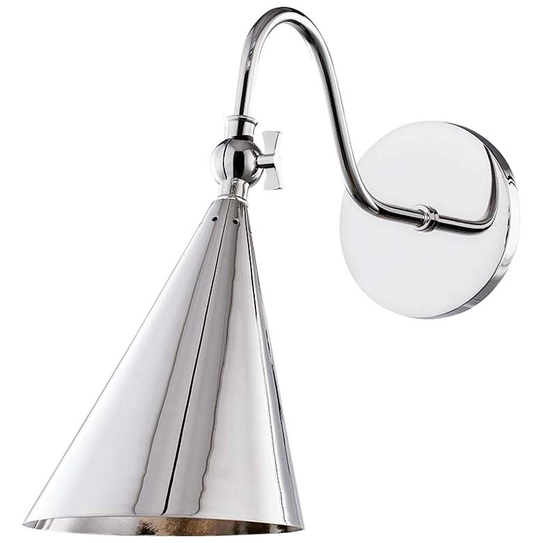 """Mitzi Lupe 12"""" High Polished Nickel Wall Sconce"""