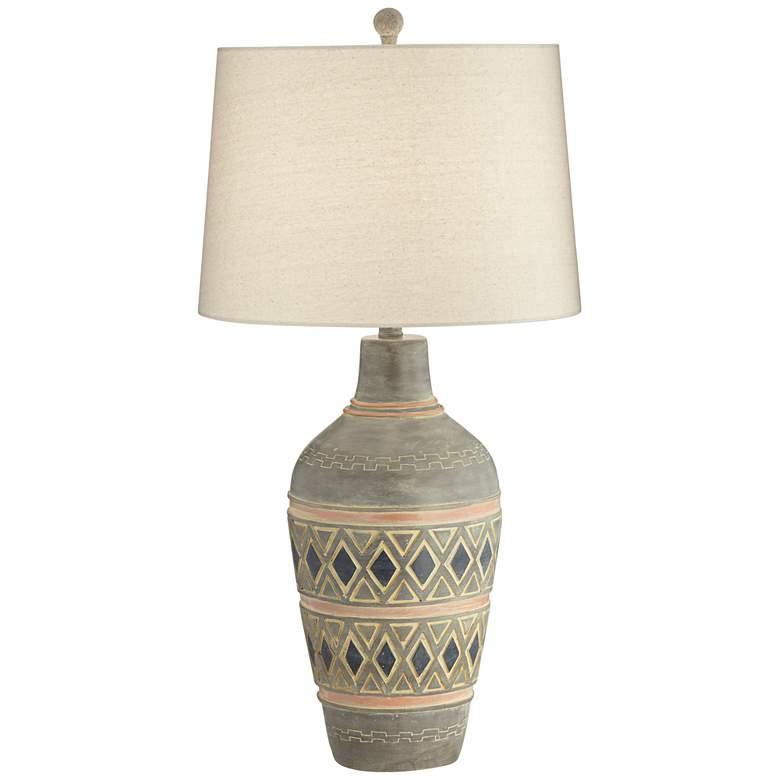 Desert Mesa Southwest Rustic Jar Table Lamp