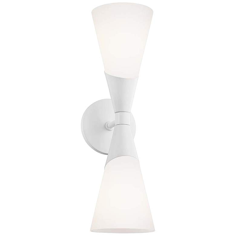 """Mitzi Parker 17 1/2"""" High 2-Light Glossy White Wall Sconce"""
