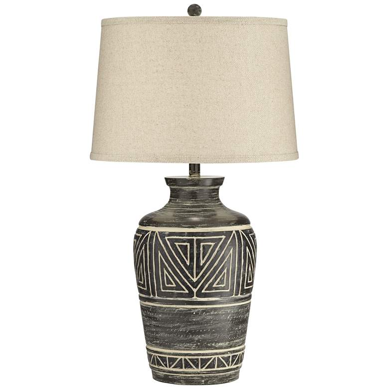 Miguel Earth Tone Southwest Rustic Jar Table Lamp