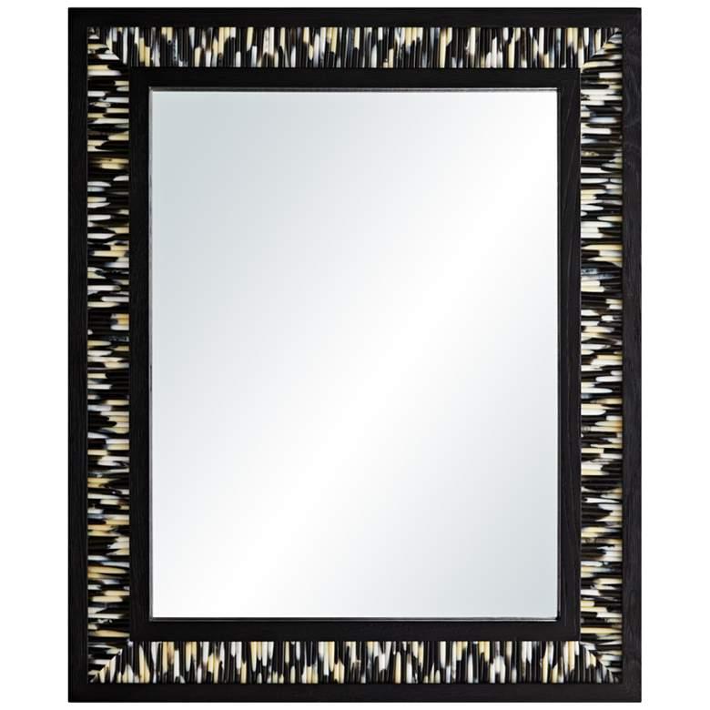 "Arteriors Home Alek Black 28"" x 34"" Rectangular Wall Mirror"