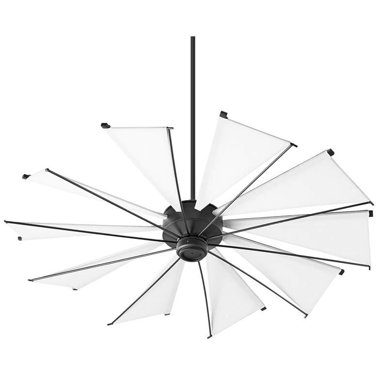 """60"""" Quorum Mykonos Noir Ceiling Fan"""