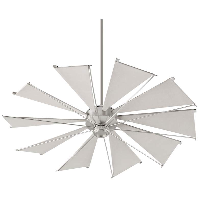 "60"" Quorum Mykonos Satin Nickel Ceiling Fan"