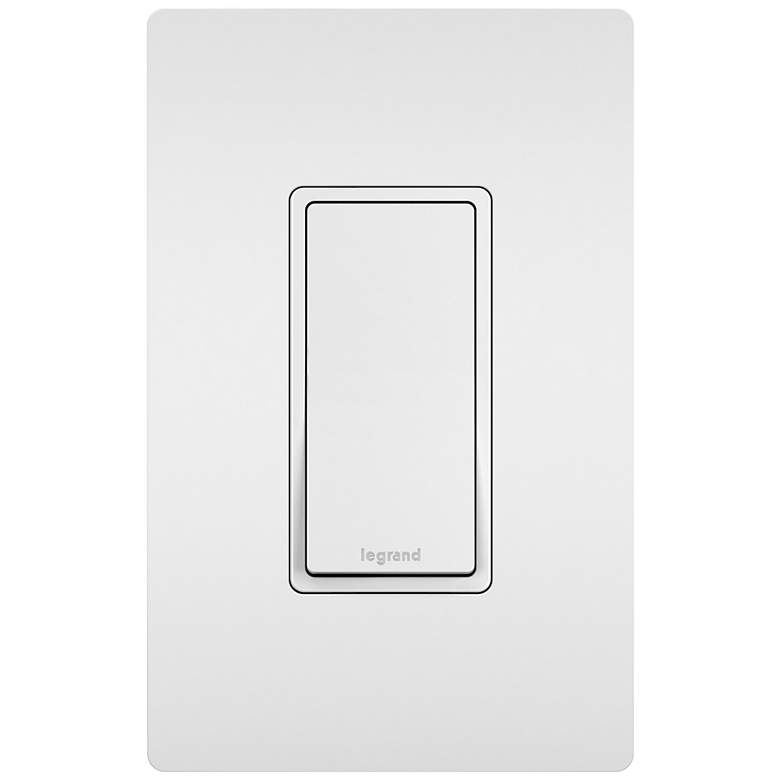Legrand Radiant White 3-Way Decorator Switch with Faceplate