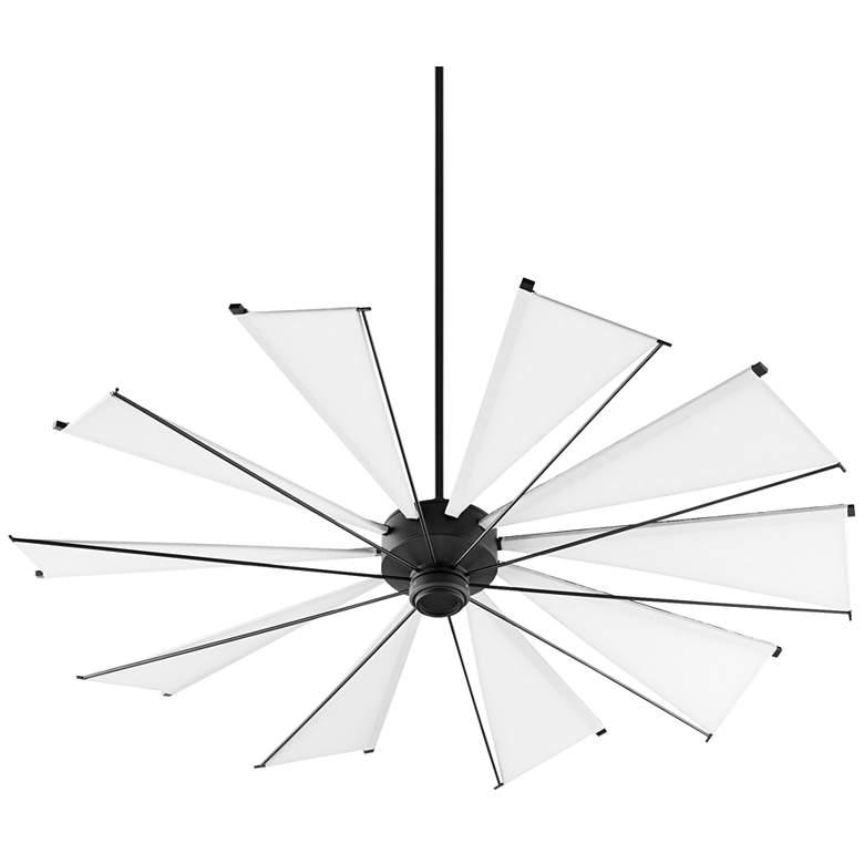 """72"""" Quorum Mykonos Noir Ceiling Fan"""