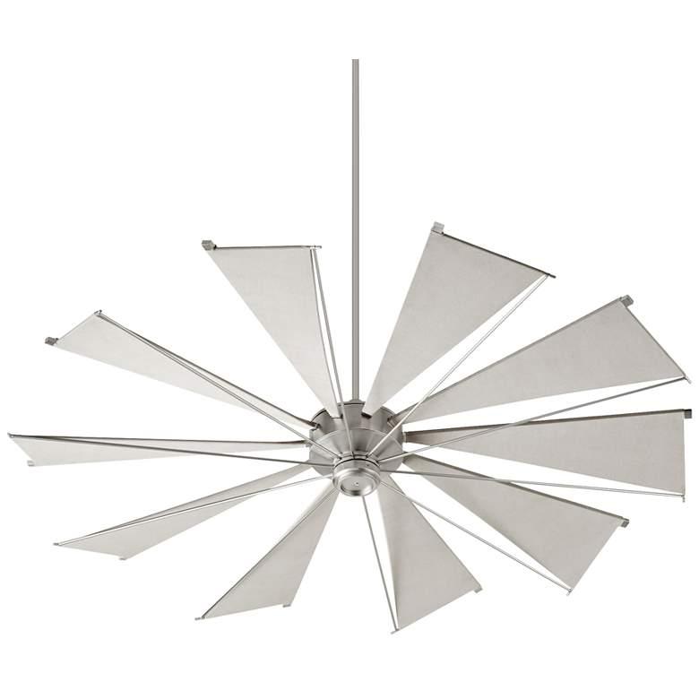 "72"" Quorum Mykonos Satin Nickel Ceiling Fan"