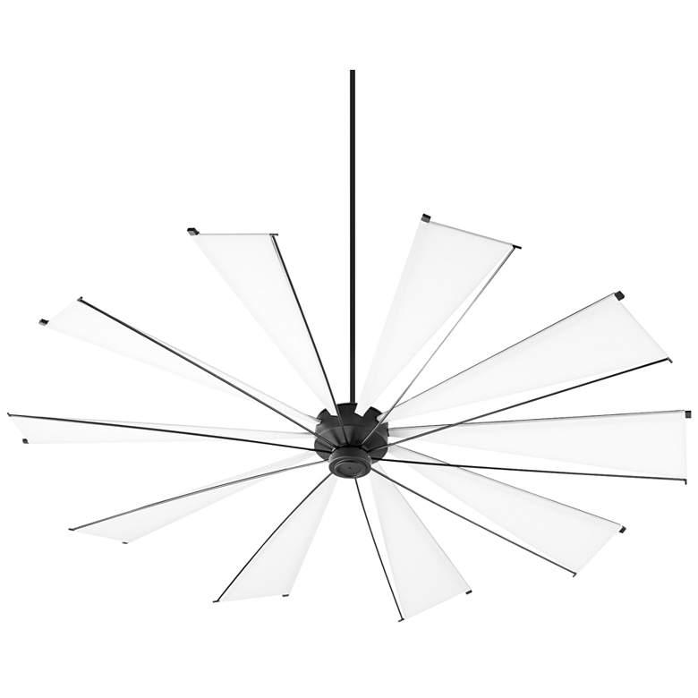 """92"""" Quorum Mykonos Noir Ceiling Fan"""