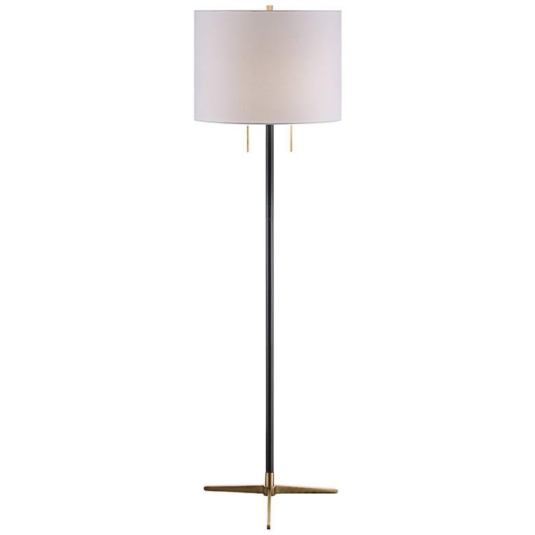 Crestview Collection Veda Gunmetal Floor Lamp