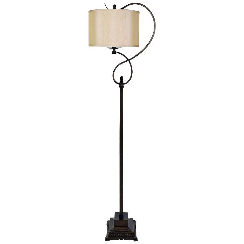 Crestview Collection Echo Bronze Scroll Metal Floor Lamp
