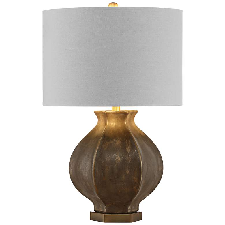 Crestview Collection Cooper Distressed Gold Table Lamp