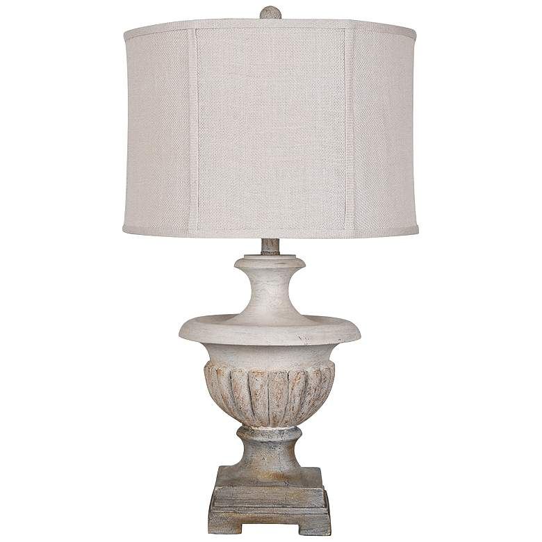 Crestview Collection Flowerpot Aged White Urn Table Lamp
