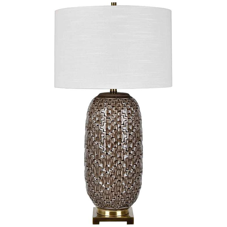 Crestview Collection Korbel Champagne Gray Table Lamp
