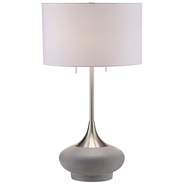 Crestview Collection Hayden Textured Concrete Table Lamp