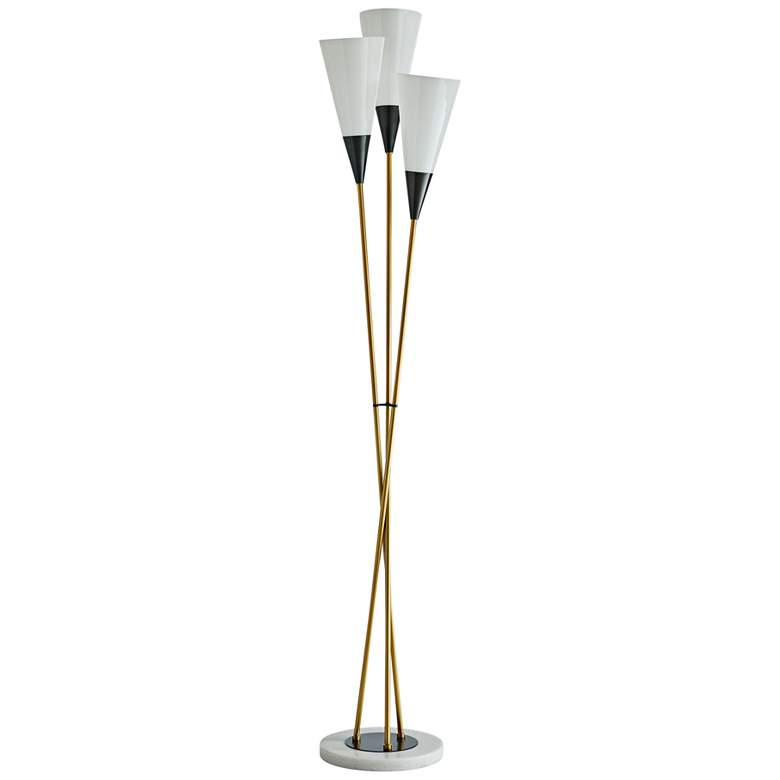 Arteriors Home Tierney Antique Brass 3-Light Floor Lamp