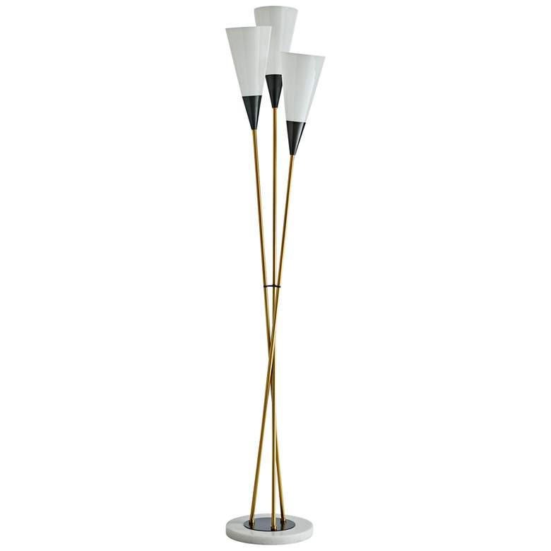 Arteriors Home Tierney Antique Brass 3-Light Floor Lamp