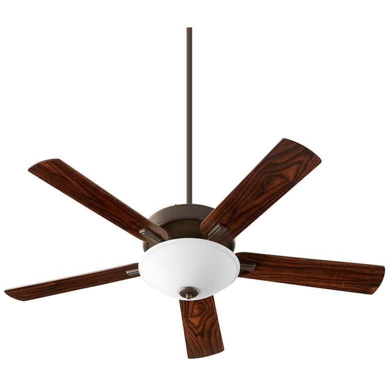 """52"""" Quorum Premier Oiled Bronze LED Ceiling Fan"""