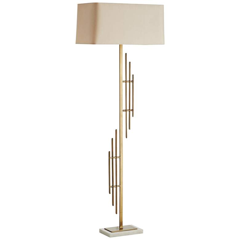 Arteriors Home Virgo Antique Brass Metal Floor Lamp