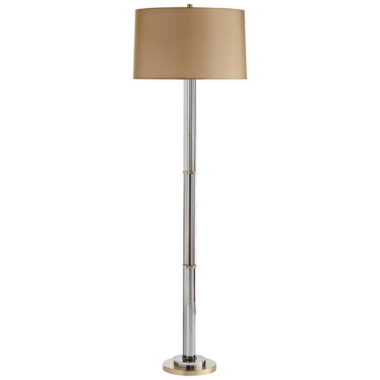 Arteriors Home Tremont Smoke Crystal Column Floor Lamp