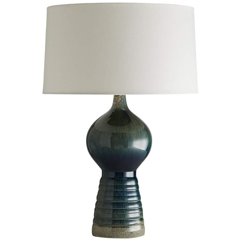 Arteriors Home Vernon Peacock Reactive Onion-Dome Table Lamp