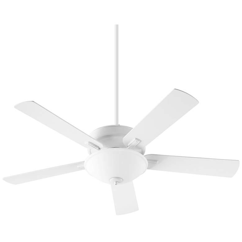 """52"""" Quorum Premier Studio White LED Ceiling Fan"""