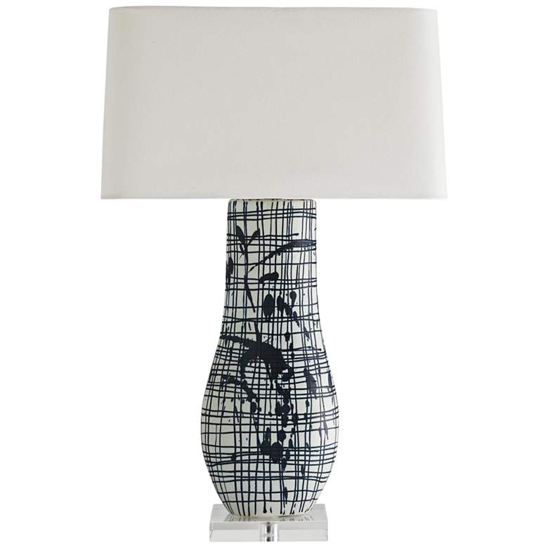 Arteriors Home Thistle Patterned Indigo and White Table Lamp