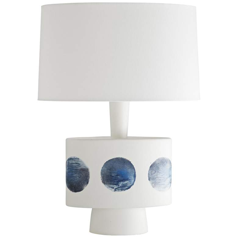 Arteriors Home Virgil Matte White and Indigo Dot