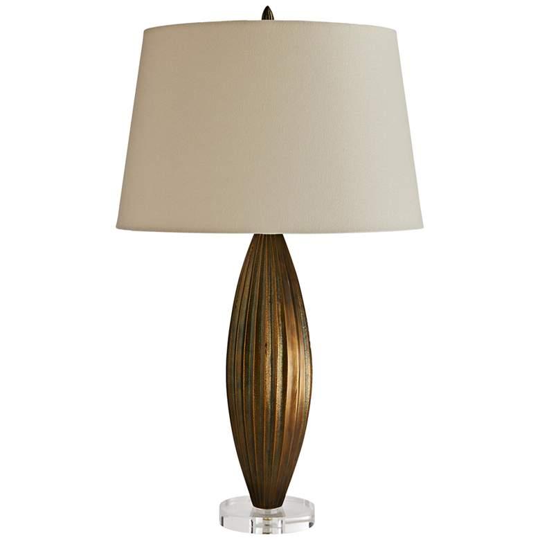 Arteriors Home Tresero Antique Brass Oblong Table Lamp