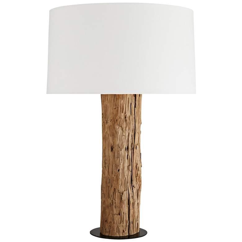 Arteriors Home Talman Natural Teak Wood Table Lamp