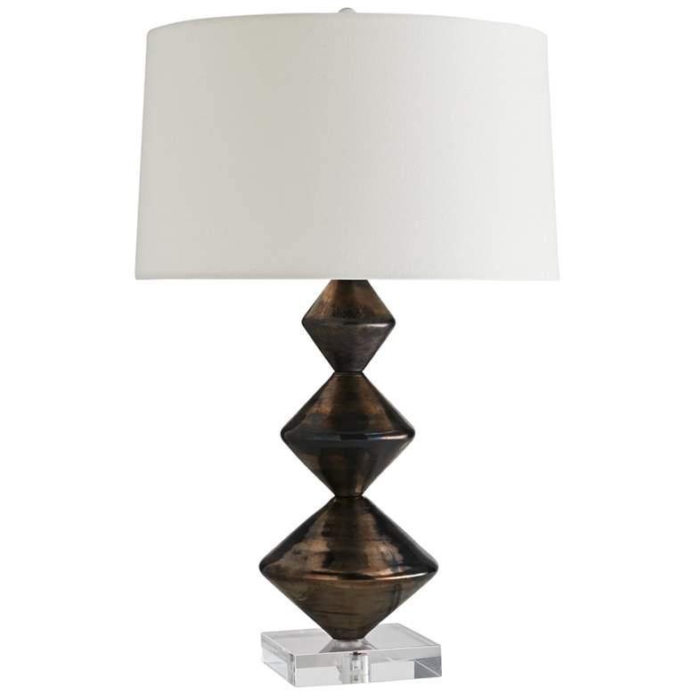 Arteriors Home Vanna Blackened Bronze Glass Table Lamp