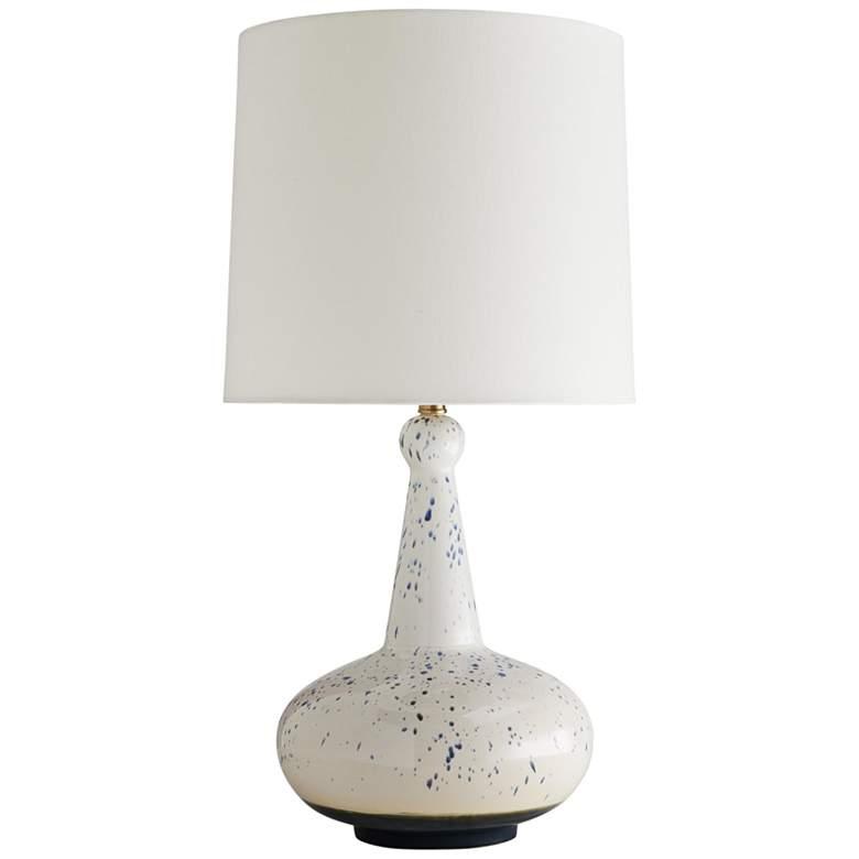 Arteriors Home Ulric Denim and Greige Splatter Table Lamp