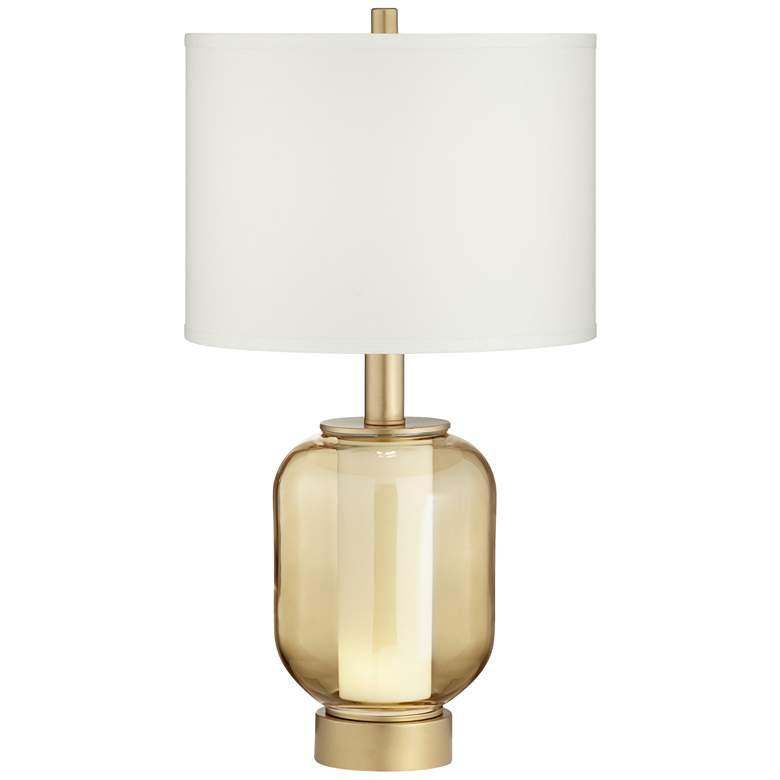 Possini Euro Sophia Champagne Glass Night Light Table Lamp