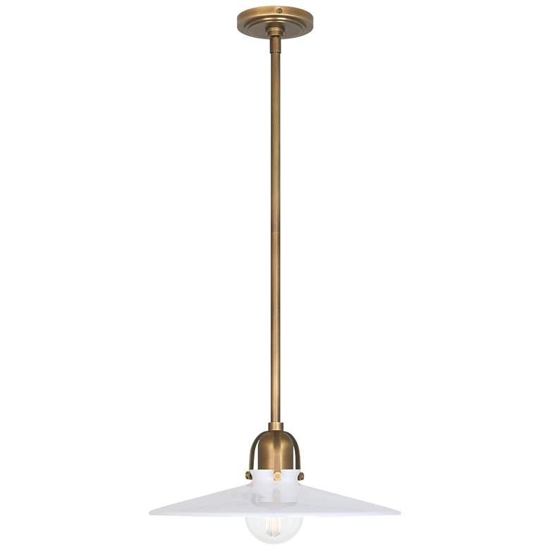 """Robert Abbey Arial 16"""" Wide Warm Brass Pendant Light"""
