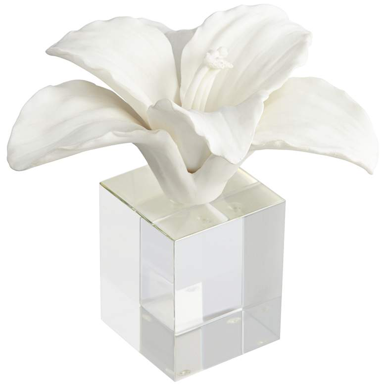 """Fleur 10 1/2"""" High Flower Statue with Acrylic Stand"""